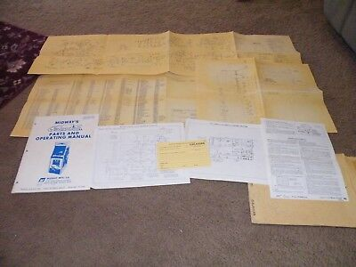 Midway Galaxian manual with schematics