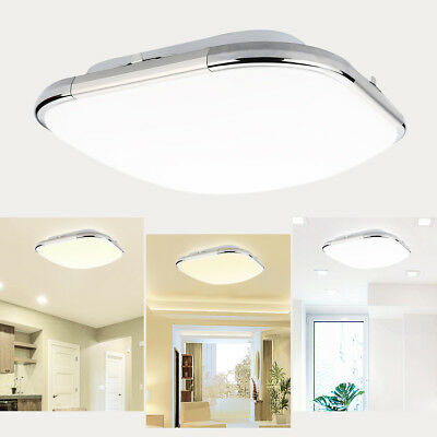 Remarkable 24W Dimmable Led Flush Mount Ceiling Light Fixture Bedroom Kitchen Down Lamp Us Complete Home Design Collection Lindsey Bellcom