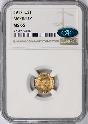 1917 McKinely Gold Dollar $1 NGC CAC MS65 Commemorative