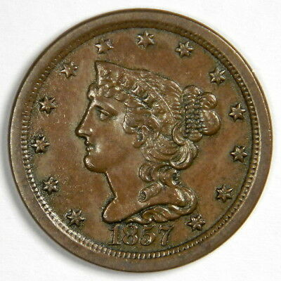 1857 Half Cent ~ Uncirculated Details! ~ Priced Right!