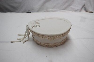 Ladies White Cosack Style Linen Vintage 1960s Bow Lace Hat