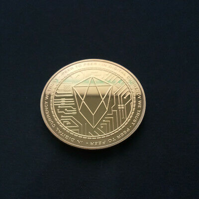 EOS Commemorative Souvenir Coin Round Collection Gift Gold Plated 38mm