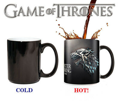 Game of thrones mugs house stark Tea hot heat sensitive mug changing color mug