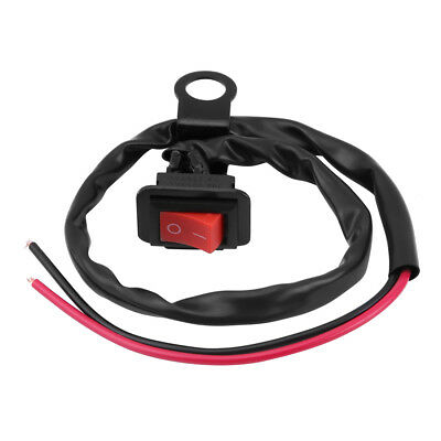 Universal Motorcycle Waterproof LED Light Flameout Switch W/ Wiring Harness ST