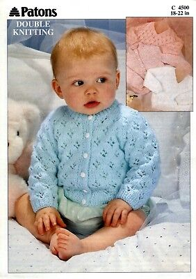 "Patons-4500   ""COPY""   Baby / Child Knitting Pattern  18-22 in  8 Ply"