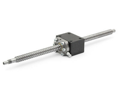 Set: Ball Screw SFU1204-DM 635mm with Spindle Nut Block for Easy-Mechatr