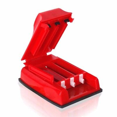 Red Manual Triple Cigarette Tobacco Tube Injector Roller Maker Rolling Machine