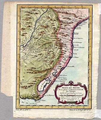 Brasilien-Amerika-South America Karte-Map Bellin 1754