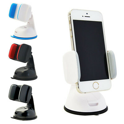 Car Mobile Phone Holder Universal Mount Windscreen Dashboard Various Colours @UK