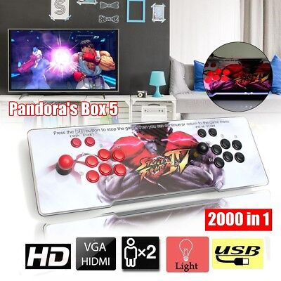 2000 In 1 Console Pandora's Box 5 Ultra-thin Metal Double Arcade Game Machine AU