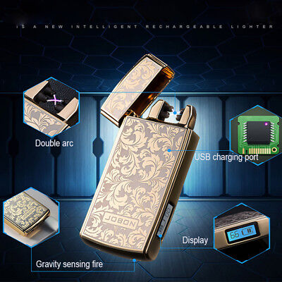New USB Flameless Plasma Rechargeable Electric LIGHTER Double ARC PULSE Torch