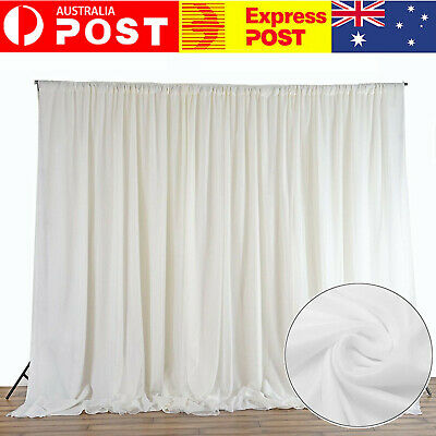 3M x 3M Wedding Party Backdrop Curtain Drape Stage Swag Photo Background Decor