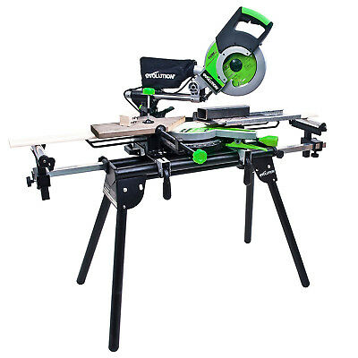 Mitre Saw Bench with Extension Evolution Table Stand Workstation Universal Chop