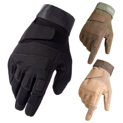 Tactical Full Finger Gloves Motorcycle Motorbike Bike ATV Off Road Racing Riding