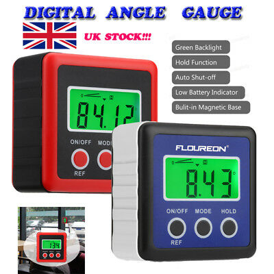 LCD Digital Bevel Box Gauge Angle Meter Finder Protractor Magnetic Base IP54 R&B