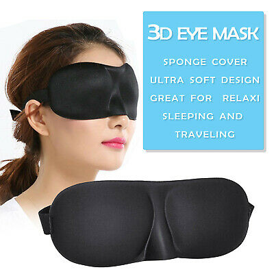 New 3D Soft Padded Blindfold Blackout Eye Mask Travel Rest Sleep Aid Shade Cover
