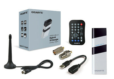 Gigabyte U8000 USB TV Tuner Dongle Hybrid Digital Analog CyberLink PowerCinema