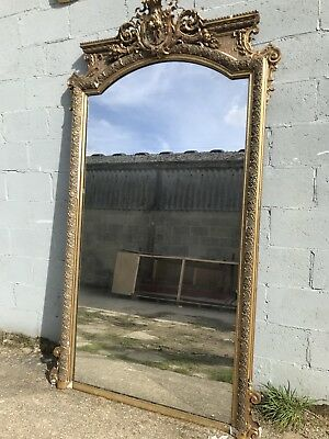 Huge 8.5ft, Antique French Mirror, Mega Rare, Early 1800's, Vintage