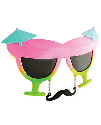 Sun Staches Novelty Sun Glasses Cocktail Theme Great For Parties - Lot of 10