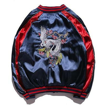 New Mens Womens Unisex Sukajan Premium Embroidered Yokosuka Bomber Jacket Coat
