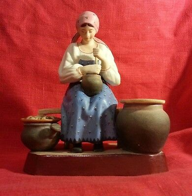 Antique Russian Imperial Gardner Porcelain Figure Figurine Peasant Woman Girl 19