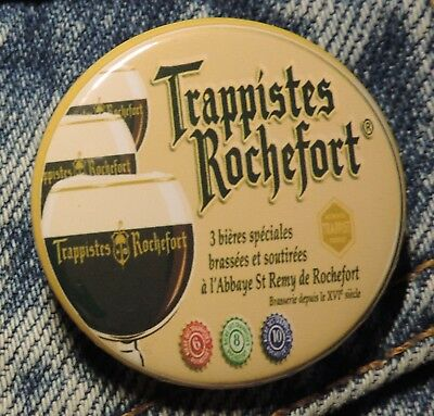 Pin Button Badge Ø38mm  Trappistes Rochefort (bière)