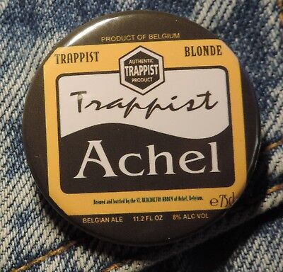 Pin Button Badge Ø38mm  Trappistes Achel blonde (bière)