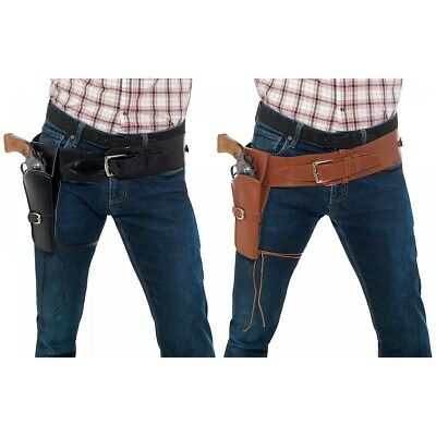 Single Holster with Belt Costume Accessory Adult Halloween