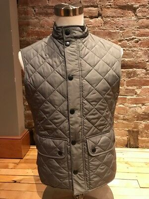NWT Men Barbour Lowerdale Quilted Vest Grey