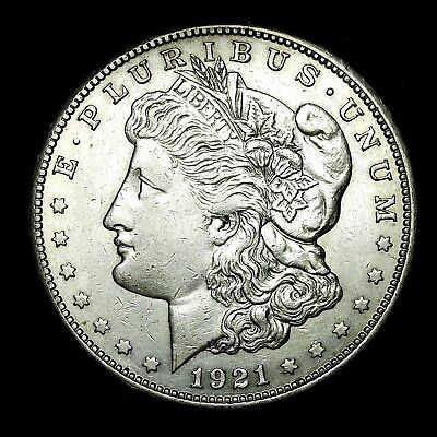 1921 S ~**ABOUT UNCIRCULATED AU**~ Silver Morgan Dollar Rare US Old Coin! #552