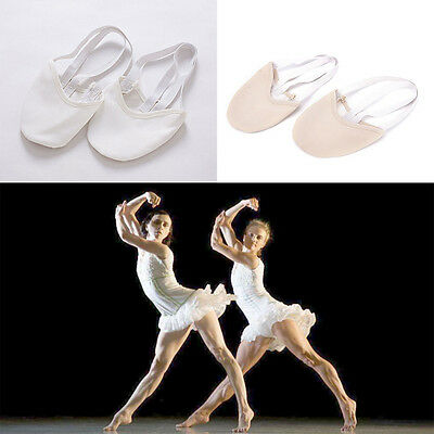 Half PULeather Sole ballet pointe Dance Shoes Rhythmic Gymnastics Slippers Ey