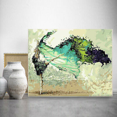 46.5x57cm Frameless Pictures Painting By Numbers Oil Canvas Wall Art Decor DIY