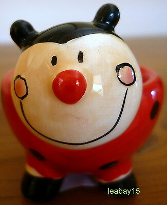 Cute Glossy Black & Red Ladybug Egg Cup! Great For Collectors! Brand New
