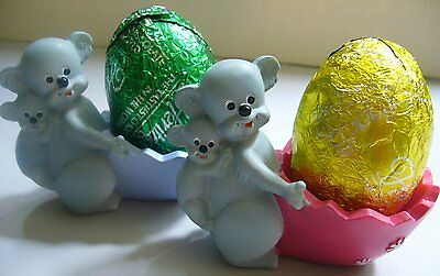 Pair Of Cute Koalas With Babies Egg Cups! Brand New! Great For Collectors!