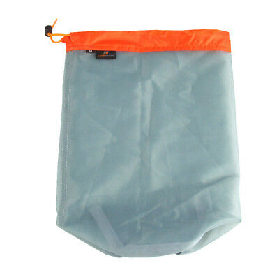 1Pc Protable Outdoor Mesh Storage Bag Camping Hiking Pouch Compression Bag S-XXL