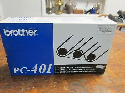 1 Brother PC-401  Printing Cartridge New in Box