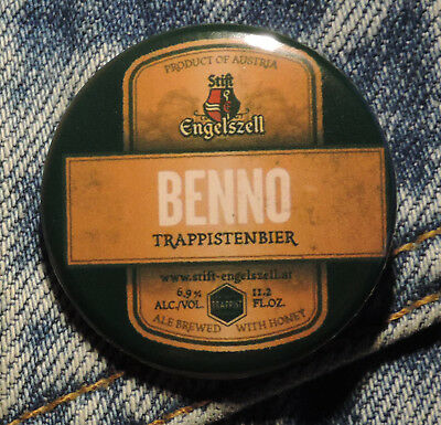 Pin Button Badge Ø38mm  Engelszell Benno Trappis (bière) 2