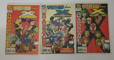 Marvel Spiderman and X-Factor Trilogy Shadow Games 1994 Complete NM/NEW