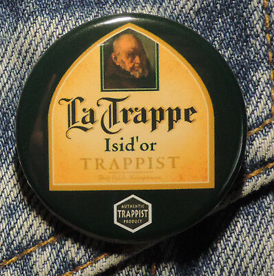 Pin Button Badge Ø38mm  La Trappe Trappist Isid'or (bière) 14
