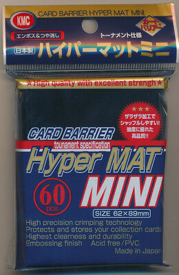 KMC Hyper Mat Mini -  Black - Japanese Sized Sleeves - 60 Pack - 4 Sealed Packs