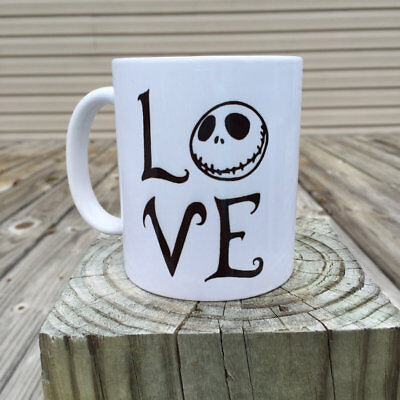 love coffee mug-jack skellington mugs-nightmare before christmas-tim burton Cup