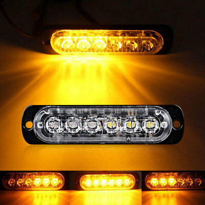 Tail Lights Side Lamp Durable 6LED Strobe Marker Lights Motorcycle