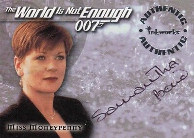 James bond The World is Not Enough Samantha Bond as Miss Moneypenny A5 Auto Card
