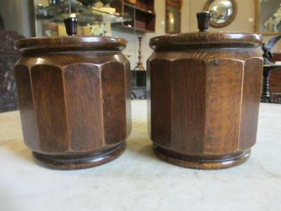 Wooden Pair Of Tea Caddies With Metal Liners Early 20th Century.ATB3318