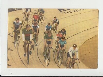 Cycling : 6 Day Cycle Racing : 1950s Dutch sports card