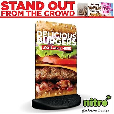Burgers Served Here Eco Flex 2 Pavement A Board Sign ***PRINTED & DELIVERED***
