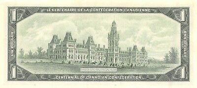 Canada    $1  1967  P 84b 100  Years  Commemorative Issue  Uncirculated Banknote