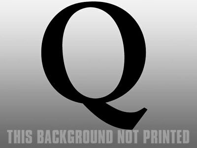 4x4 inch BLACK Q Shaped Sticker  - qanon anon conservative trump gop us USA Made