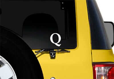 4x4 inch WHITE Vinyl Q Shaped Sticker - qanon anon conservative trump wwg1wga we