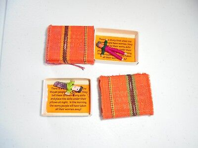 Mayan Culture Mini Worry Trouble Dolls Lot Matchbox Size Collectible
